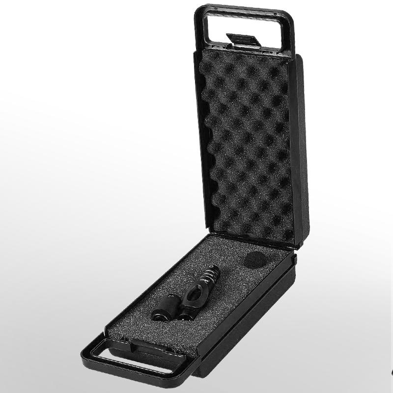 with plastic case