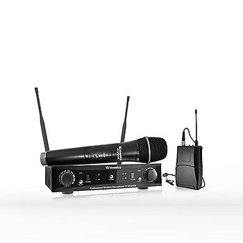 Sistema de microfone sem fio profissional